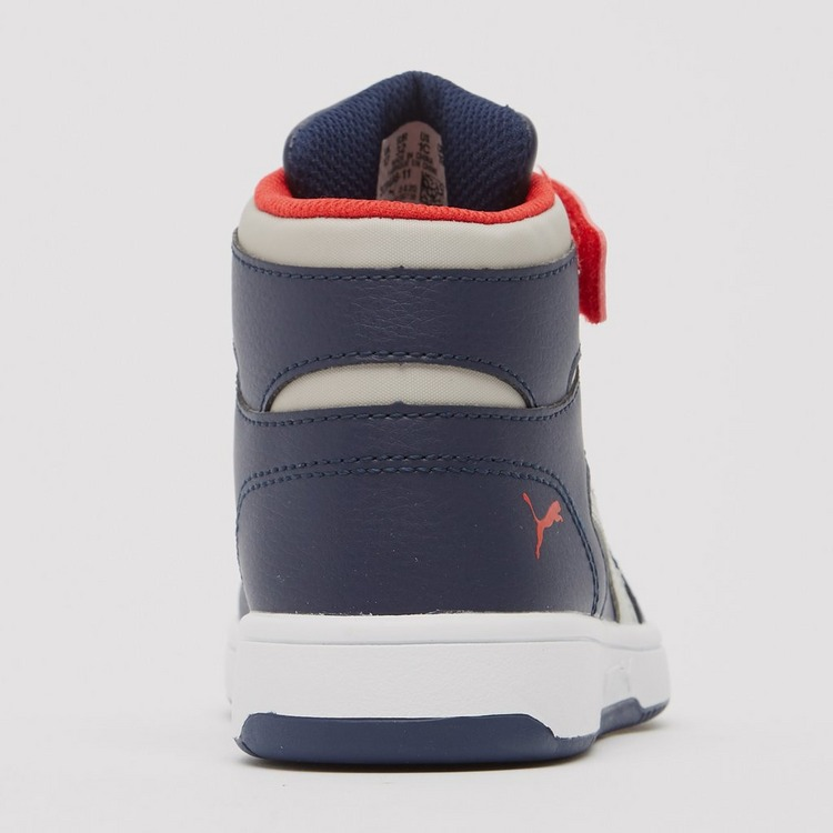 PUMA REBOUND LAY UP MID SNEAKERS BLAUW/ROOD KINDEREN