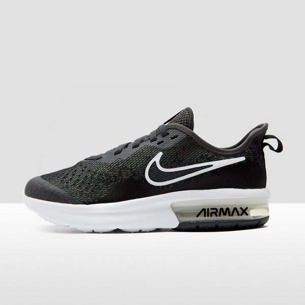 6a6121a4c5f NIKE AIR MAX SEQUENT 4 SNEAKERS ZWART/WIT KINDEREN | Perrysport