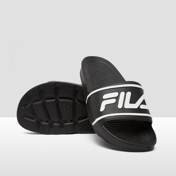 FILA SLEEK SLIDE SLIPPERS ZWART/WIT KINDEREN