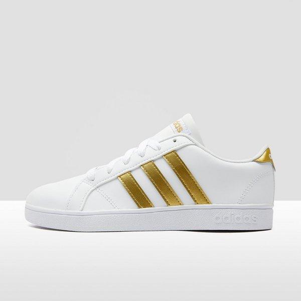 adidas sneakers wit met goud