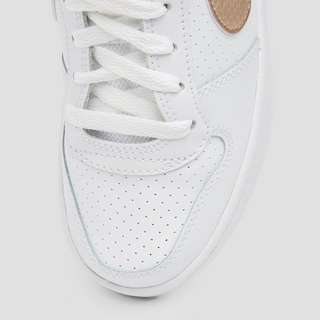 NIKE COURT BOROUGH LOW SNEAKERS WIT/GOUD KINDEREN