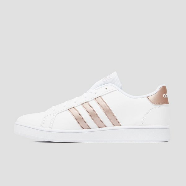 ADIDAS GRAND COURT SNEAKERS WIT/KOPER KINDEREN
