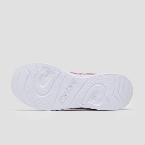 SKECHERS HEART LIGHTS SNEAKERS ZILVER KINDEREN
