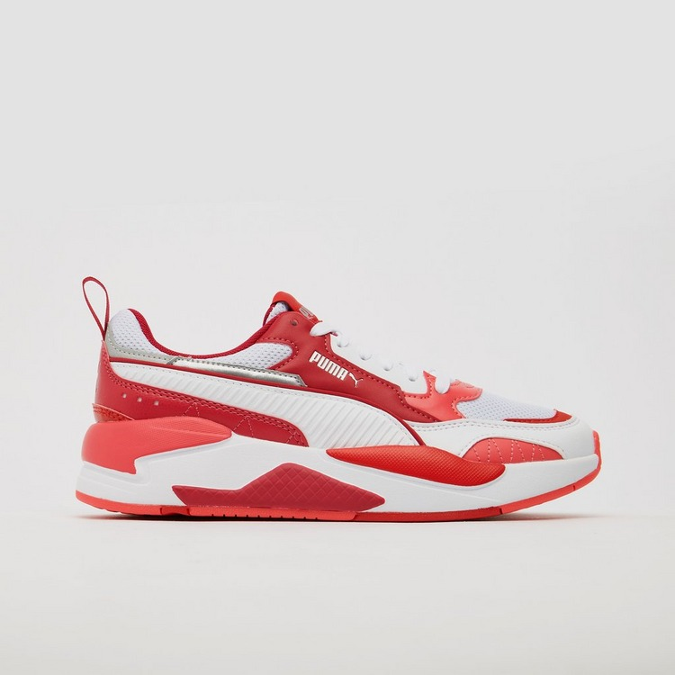 PUMA X-RAY 2 SQUARE SNEAKERS ROOD/WIT KINDEREN