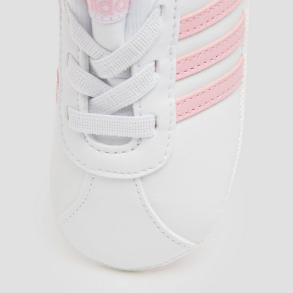 ADIDAS VL COURT 2.0 CRIB SNEAKERS WIT/ROZE BABY