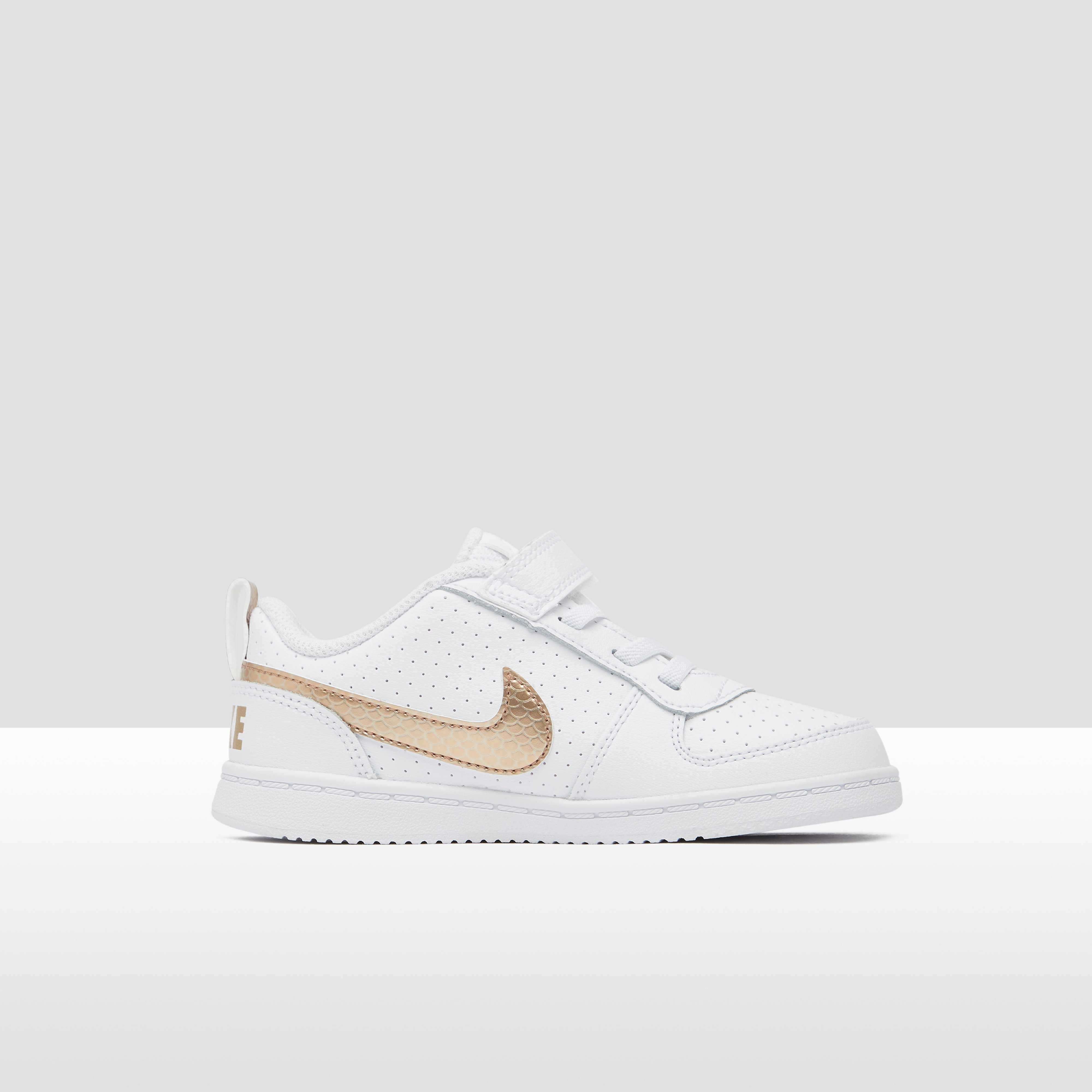 NIKE COURT BOROUGH LOW SNEAKERS WIT/GOUD BABY