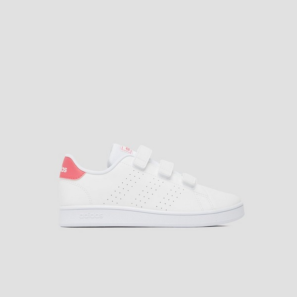 ADIDAS ADVANTAGE SNEAKERS WIT/ROZE BABY