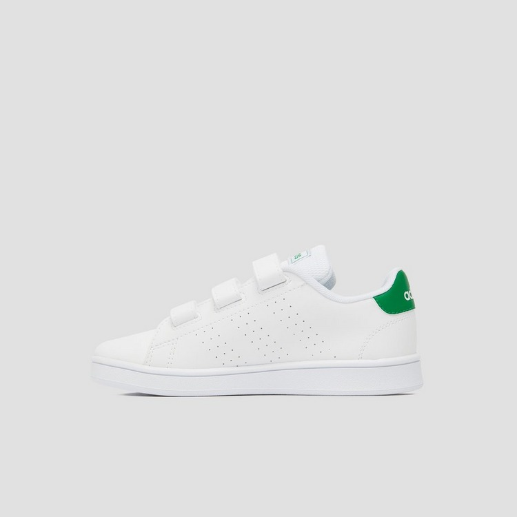 ADIDAS ADVANTAGE SNEAKERS WIT/GROEN BABY