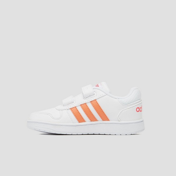 ADIDAS HOOPS 2.0 SNEAKERS WIT/ROZE BABY