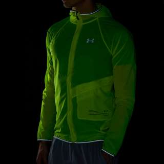 UNDER ARMOUR QUALIFIER STORM PACKABLE HARDLOOPJAS GEEL HEREN