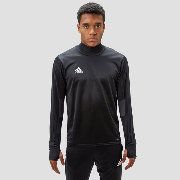 ADIDAS TIRO 17 TRAININGSSHIRT ZWART HEREN
