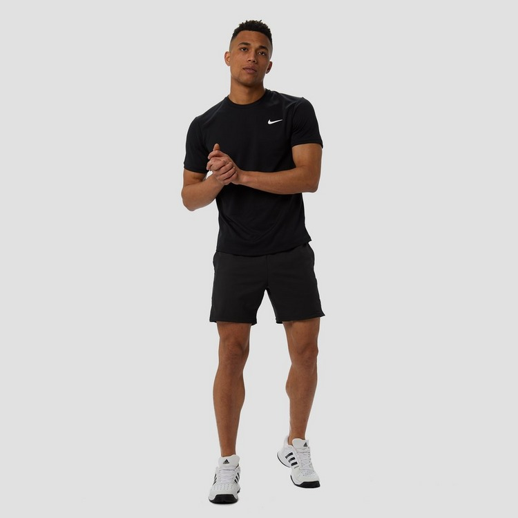 NIKE COURT DRI-FIT TENNISBROEKJE ZWART HEREN