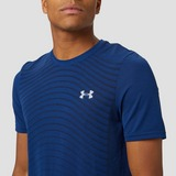 UNDER ARMOUR SEAMLESS WAVE SPORTSHIRT BLAUW HEREN