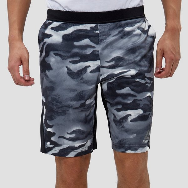 da73e08aa REEBOK SPRAY CAMO FORCE SPORTSHORT ZWART/WIT HEREN | Perrysport