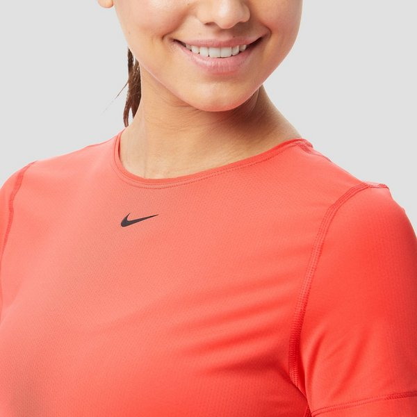 NIKE PRO ALL OVER MESH SPORTSHIRT ROOD DAMES