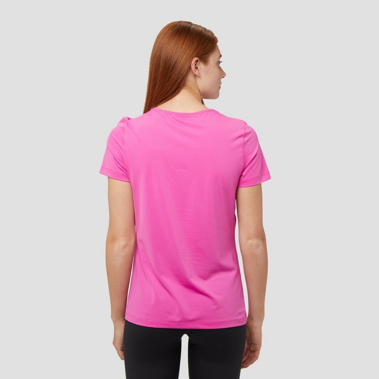 NIKE PRO ALL OVER MESH SPORTSHIRT ROZE DAMES