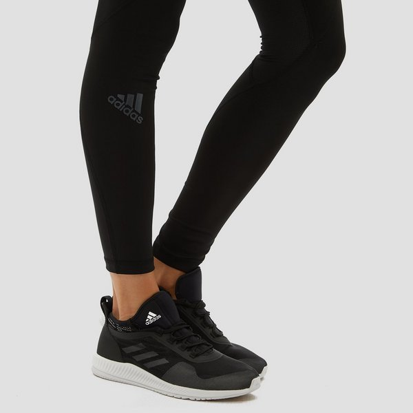 71082885510 ADIDAS ALPHASKIN LOGO SPORTTIGHT ZWART/WIT DAMES | Perrysport