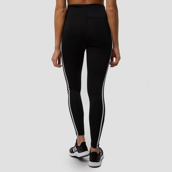 ADIDAS DESIGN 2 MOVE 3-STRIPES HIGH RISE TIGHT ZWART DAMES ...
