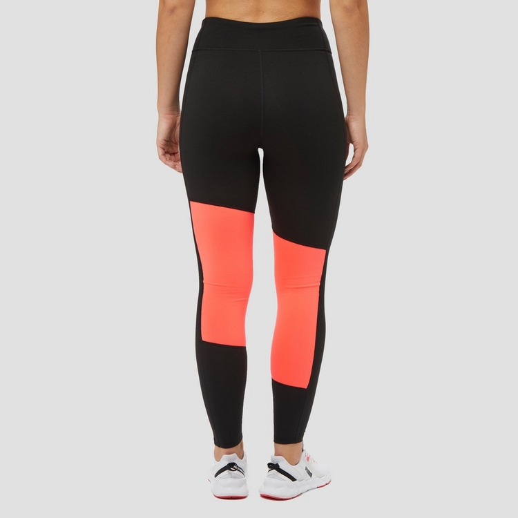 PUMA LONG GRAPHIC SPORTTIGHT ZWART/ROOD DAMES