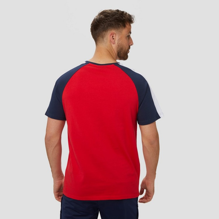 BEAR MAX FISHER SHIRT BLAUW/ROOD HEREN