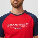 BEAR MAX FISHER SHIRT BLAUW/ROOD HEREN