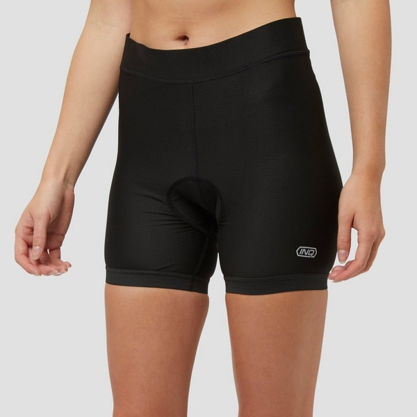 INQ CROSS/FIELD PADDED FIETSONDERBROEK ZWART DAMES