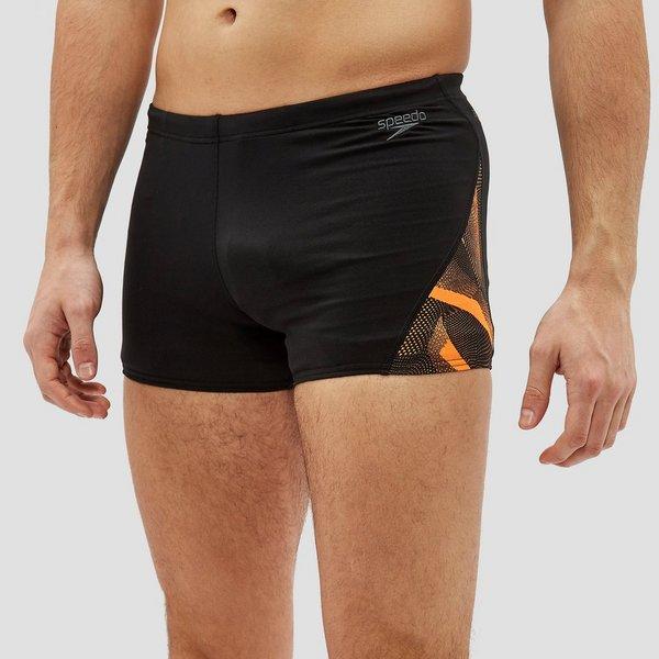 3xl Zwembroek.Speedo Endurance Curve Panel Aqua Zwembroek Zwart Oranje Heren