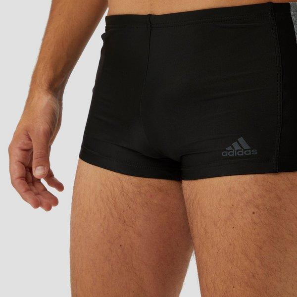 Zwarte Zwembroek Heren.Adidas Essence Core 3 Stripes Zwembroek Zwart Grijs Heren Perrysport