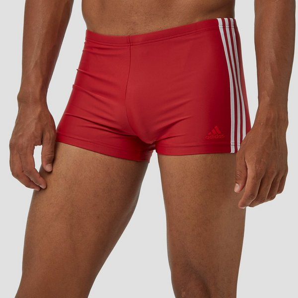 ADIDAS FIT 3-STRIPES ZWEMBROEK ROOD HEREN