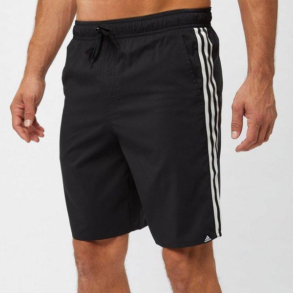 Zwarte Zwembroek Heren.Adidas 3 Stripes Boardshort Zwart Heren Perrysport