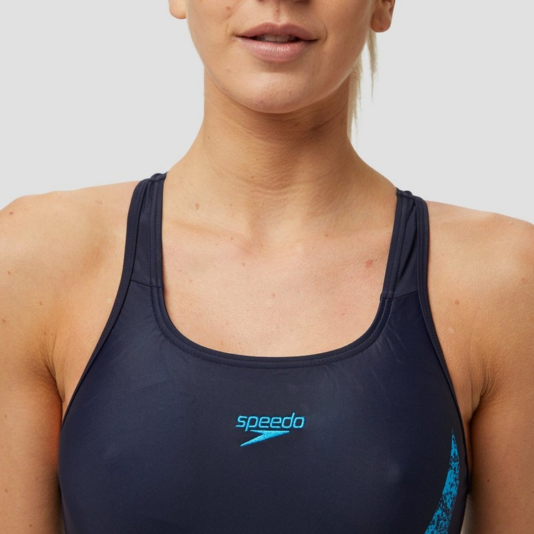 SPEEDO BOOMSTAR PLACEMENT RACERBACK BADPAK BLAUW DAMES