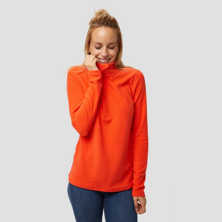 SPEX JULIANA FLEECE 1/4-RITS PULLY ORANJE DAMES