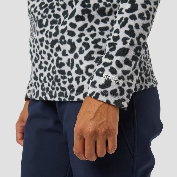 SPEX PRINT FLEECE PULLY GRIJS DAMES