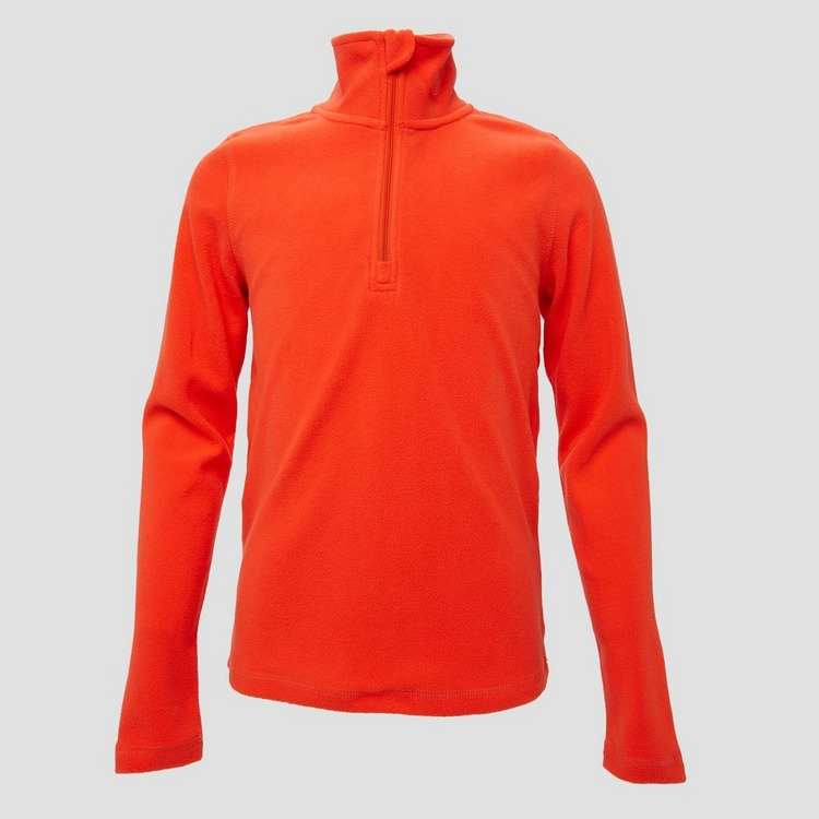 SPEX JIB FLEECE PULLY 1/4-RITS ORANJE KINDEREN