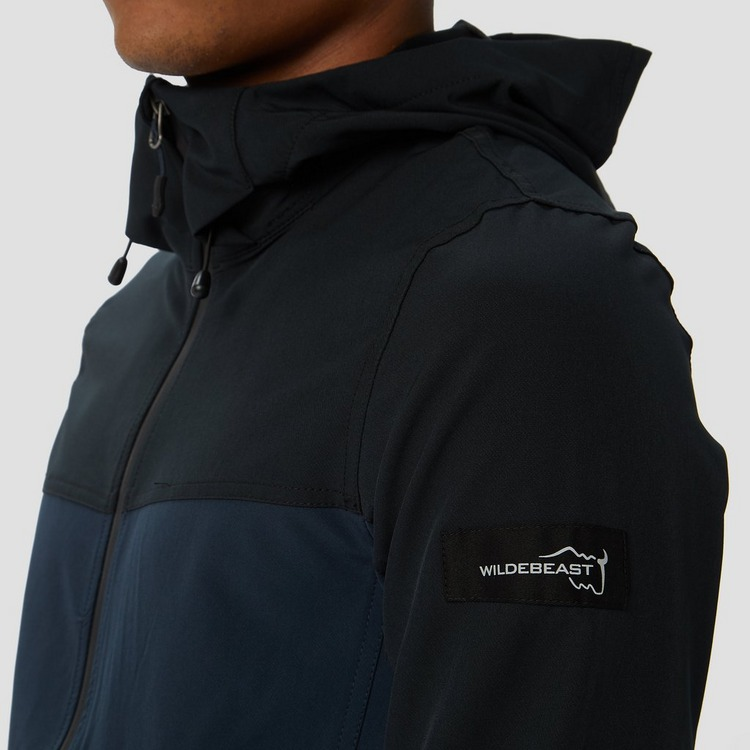 WILDEBEAST COLTON STRETCH SOFTSHELL JAS ZWART/BLAUW HEREN
