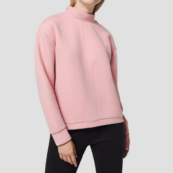 O'NEILL ARALIA QUILTED CREW SWEATER ROZE DAMES