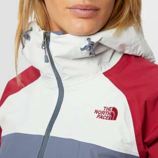 THE NORTH FACE STRATOS OUTDOORJAS GRIJS/ROOD DAMES