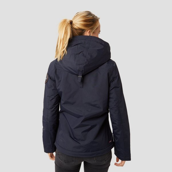 Winterjas Donkerblauw Dames.Napapijri Rainforest Winterjas Blauw Dames Perrysport