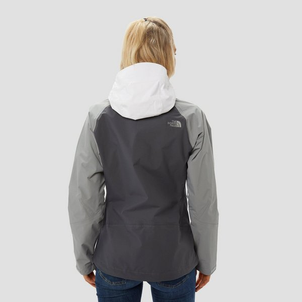 THE NORTH FACE STRATOS OUTDOOR JAS GRIJS/WIT DAMES