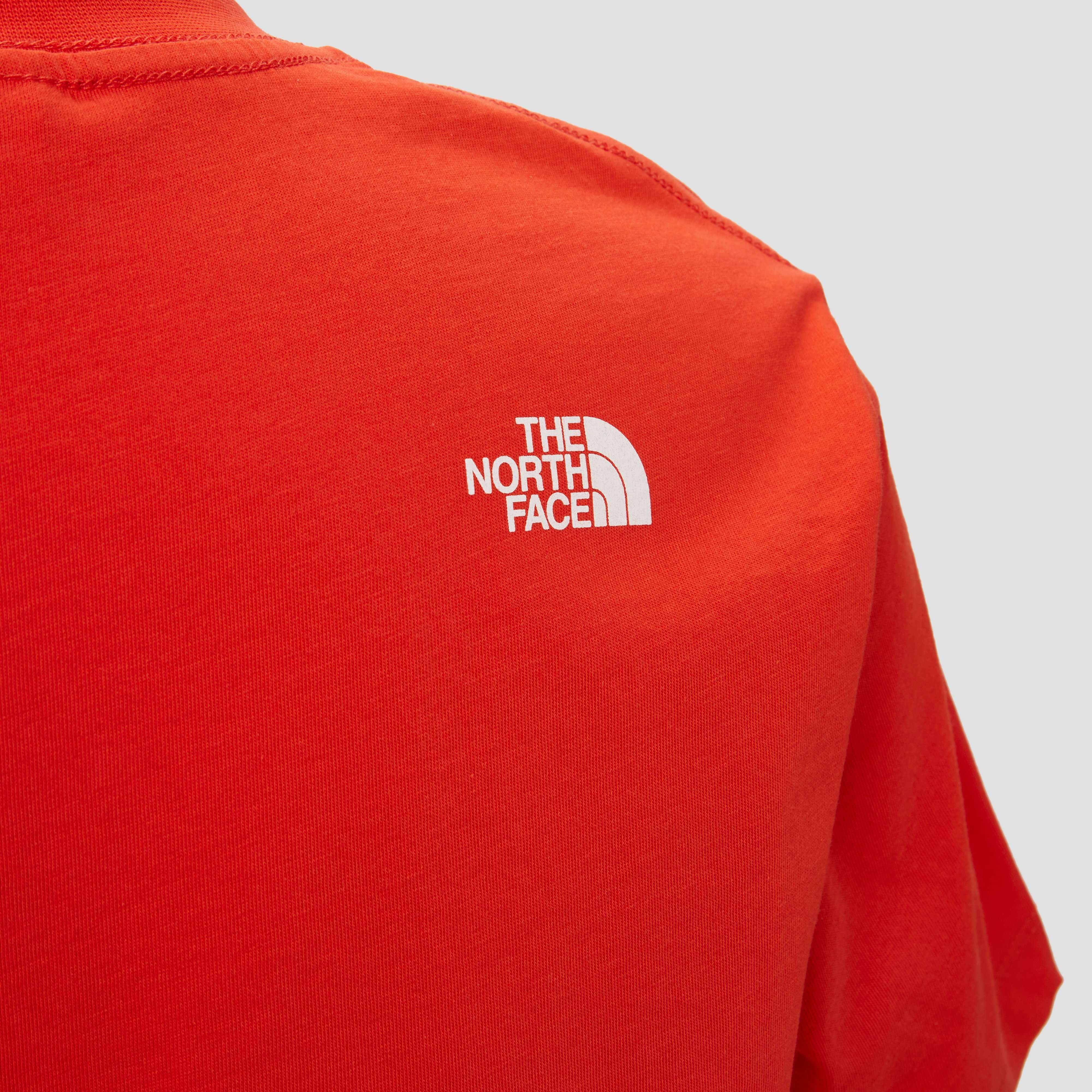 THE NORTH FACE EASY SHIRT ROOD/WIT KINDEREN