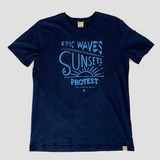 PROTEST SUNSET LOGO SHIRT BLAUW HEREN