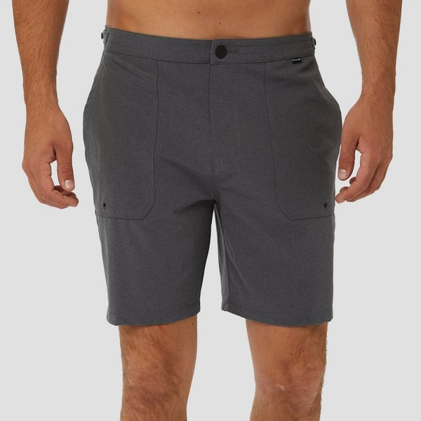 HURLEY PHANTOM COASTLINE 18 BOARDSHORT ZWART HEREN