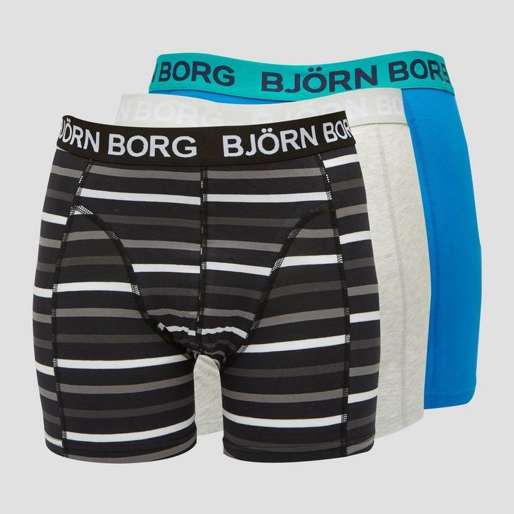 BJORN BORG STRIPE SAMMY BOXERSHORT 3-PACK BLAUW HEREN