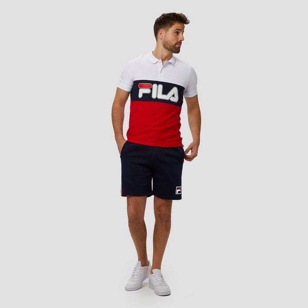 FILA PATENZO COLORBLOCK POLO WIT/ROOD HEREN
