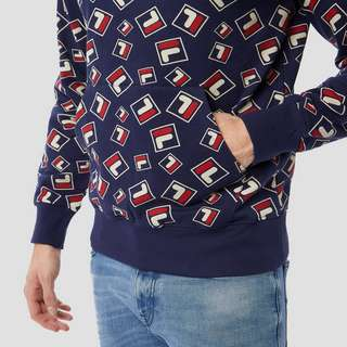 FILA MONDRED PRINT TRUI BLAUW HEREN