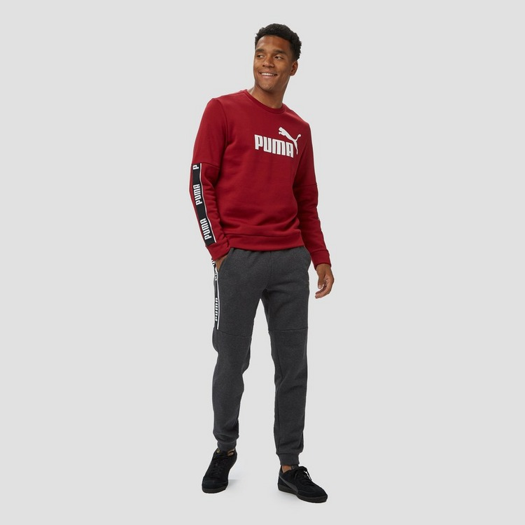 PUMA AMPLIFIED CREW FLEECE SWEATER BORDEAUX HEREN