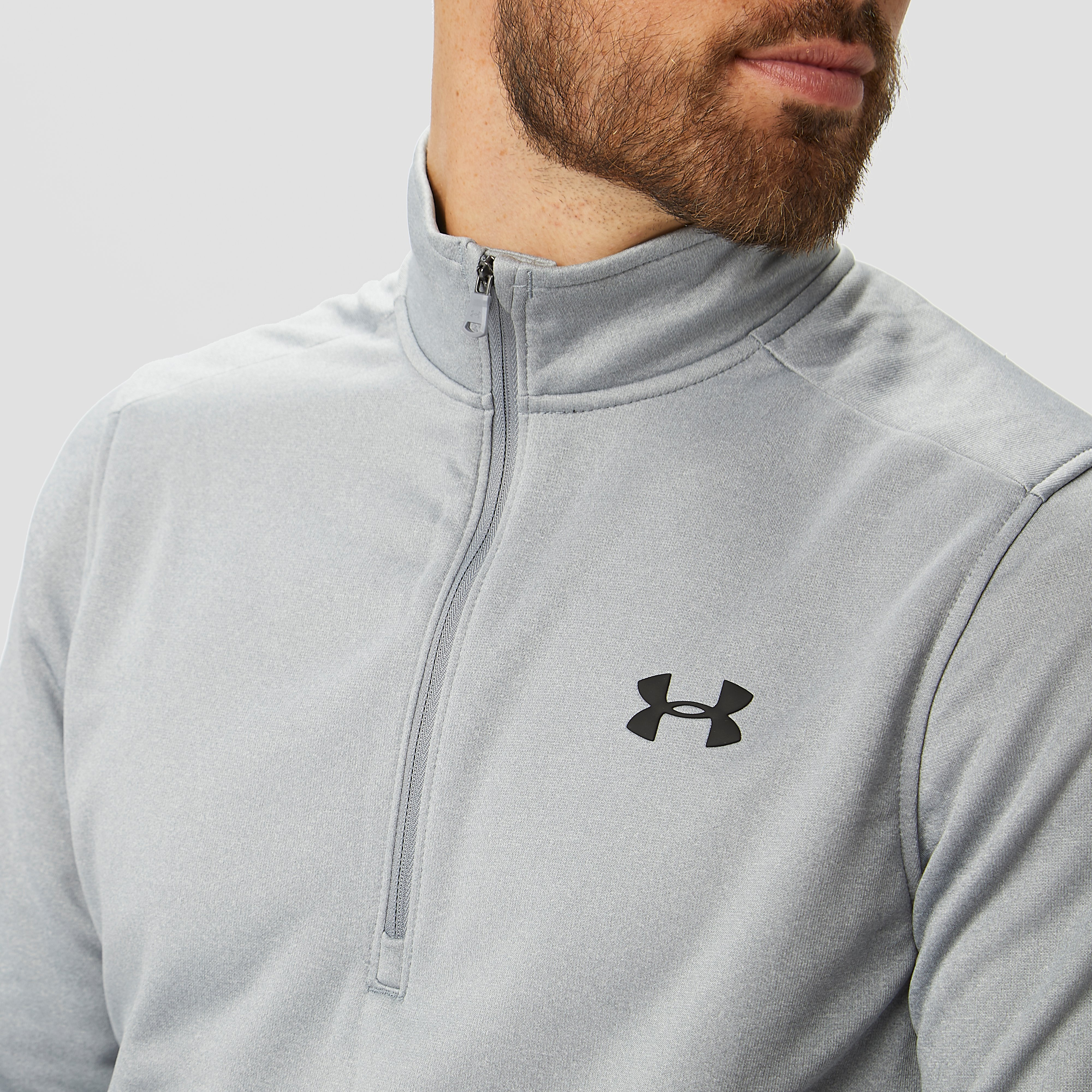 UNDER ARMOUR FLEECETRUI 1/2-RITS GRIJS HEREN
