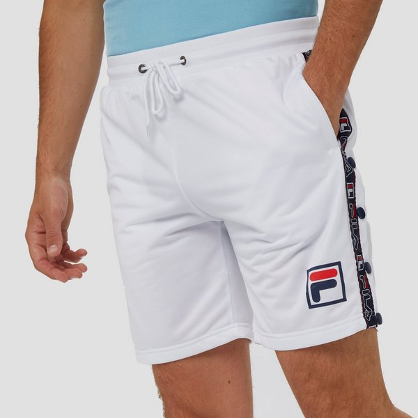 FILA RENDE TAPED POPPER KORTE BROEK WIT/ROOD HEREN