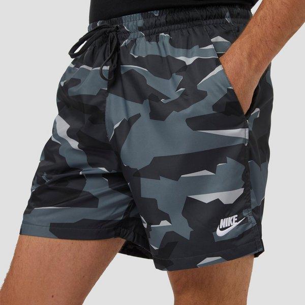 Heren Camouflage Korte Broek.Nike Woven Camouflage Korte Broek Grijs Heren Perrysport