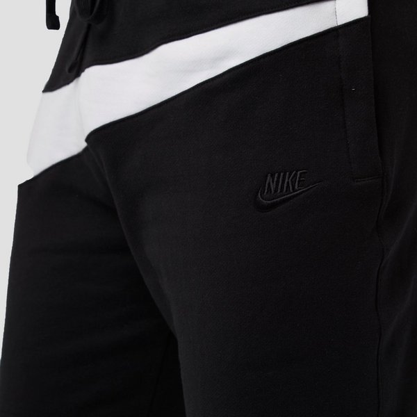 NIKE SPORTSWEAR FRENCH TERRY KORTE BROEK ZWART/WIT HEREN